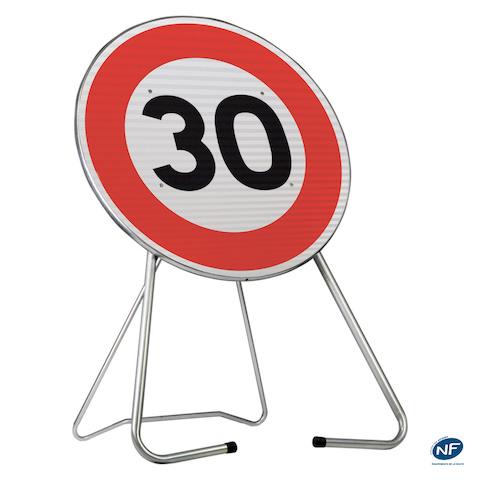 panneau de chantier b14 30 km h limitation de vitesse delta gr. Black Bedroom Furniture Sets. Home Design Ideas