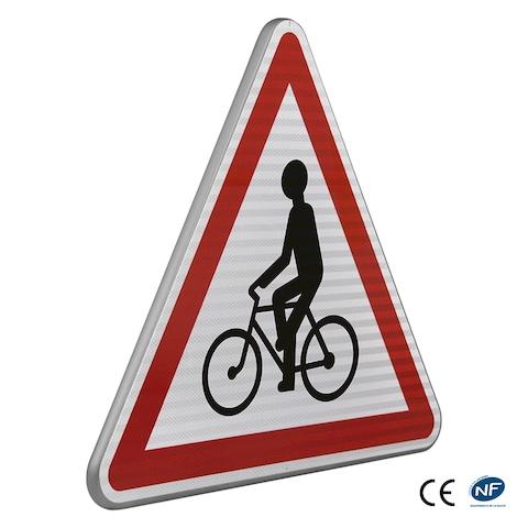 panneau de danger a21 d bouch de cyclistes. Black Bedroom Furniture Sets. Home Design Ideas