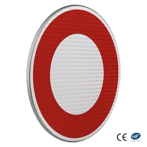 panneau d 39 interdiction b0 circulation interdite tout v hicule dans les deux sens. Black Bedroom Furniture Sets. Home Design Ideas