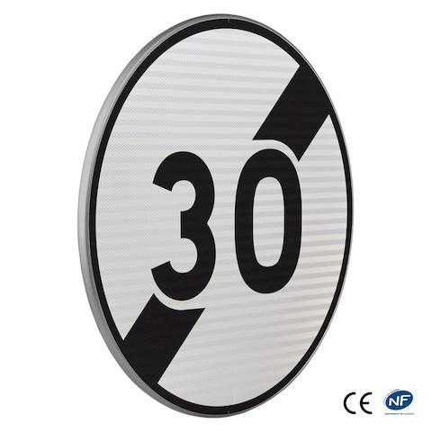 panneau d 39 obligation b33 fin de limitation de vitesse. Black Bedroom Furniture Sets. Home Design Ideas