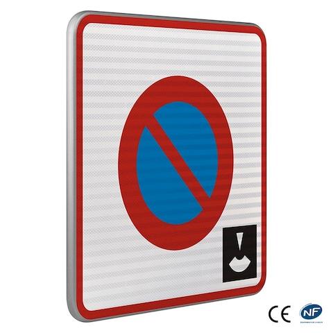 panneau de stationnement b6b3 zone stationnement de dur e limit e contr l e par disque. Black Bedroom Furniture Sets. Home Design Ideas