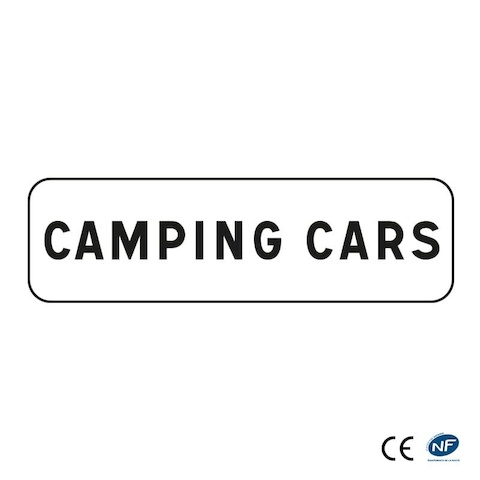Panonceau M4E3 - Camping cars