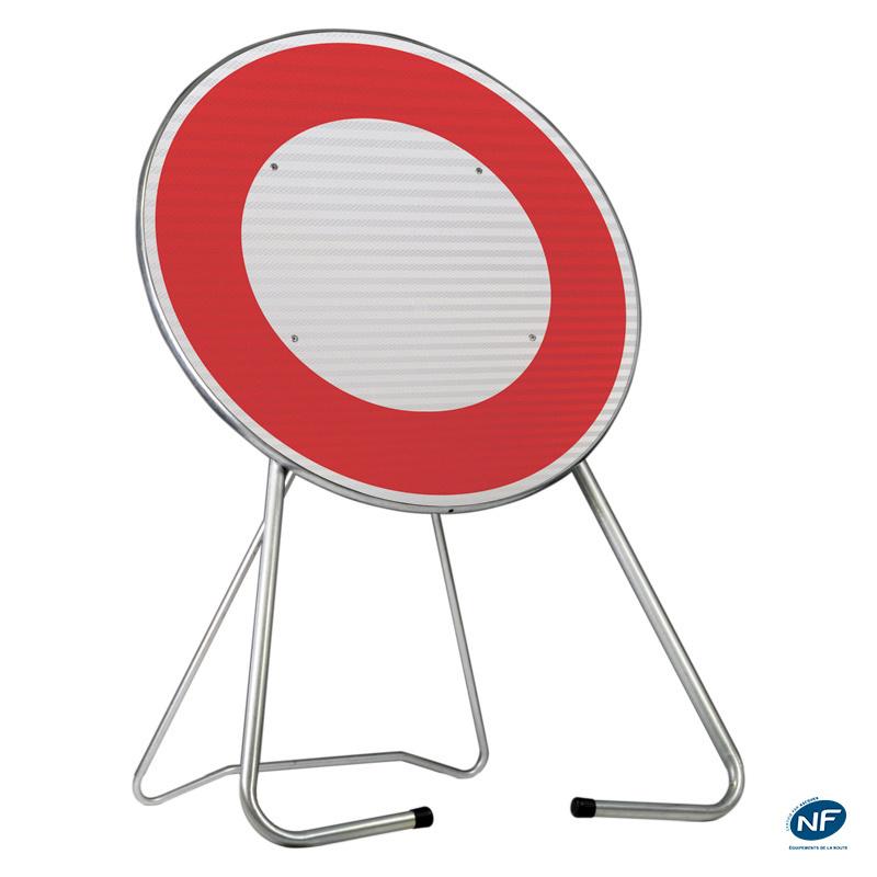 panneau de chantier b0 circulation interdite tout v hicule delta gr. Black Bedroom Furniture Sets. Home Design Ideas