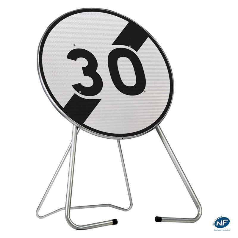 panneau de chantier b33 30 km h fin limitation de vitesse delta gr. Black Bedroom Furniture Sets. Home Design Ideas