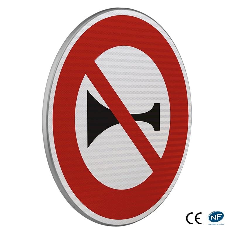 Panneau d 39 interdiction b16 signaux sonores interdits - Panneau signalisation interdiction ...