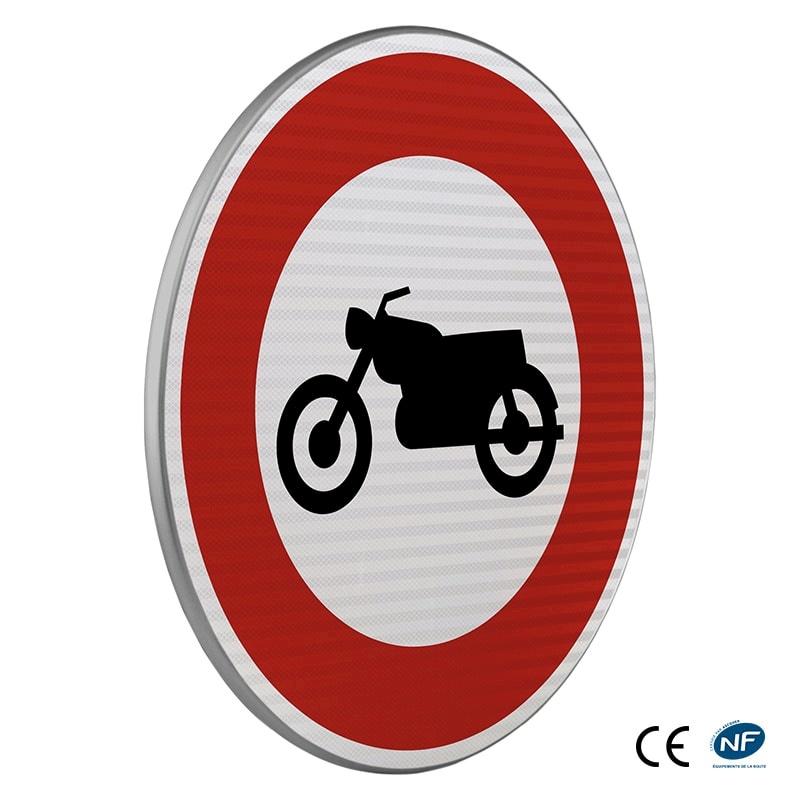 panneau d 39 interdiction b9h acc s interdit aux motocyclettes. Black Bedroom Furniture Sets. Home Design Ideas