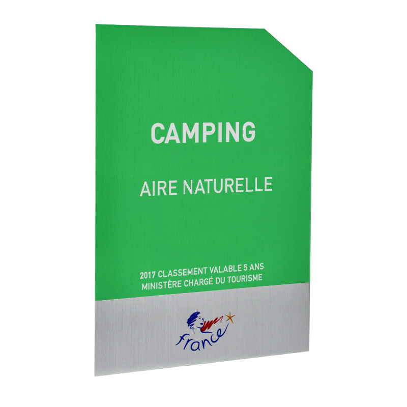 Panonceau Camping aire naturelle